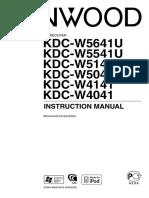 Kenwood Car Stereo System KDC-W5041U