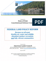 American Lands Council's Proposal to Utah's Constitutional Defense Council