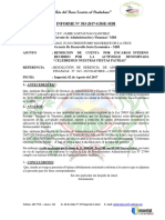 Informe Nº 383 Gaf Rendicion de Cuenta Por Encargo Interno Desfile