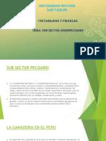 Subsector Pecuario