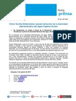 Nota de Prensa Nº 155-2017 - AAA CAPLINA OCOÑA