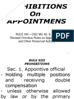 Report on Prohibitions
