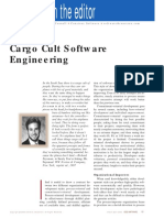 Cargo Cult Software Engineering