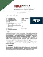 UAP Psicologia Psicofarmacologia Silabo