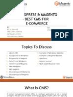Wordpress & Magento as Best CMS for E-Commerce