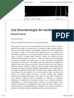 Abaroa, Eduardo -Una fenomenología del neoliberalismo — Campo de relámpagos