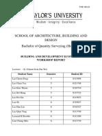 Building Development Economics Workshop Report
