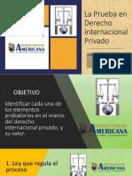 La Prueba en Derecho Internacional Privado