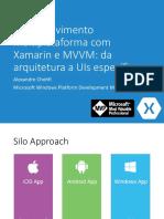 Desenvolvimento multiplataforma com Xamarin e MVVM