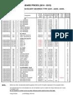 Standard Prices Flender Graffenstaden - Auxiliary Gearboxes