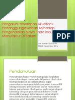PPT Adi Pengaruh Penerapan Akuntansi Pertanggungjawaban Terhadap Pengendalian Biaya Pada