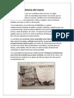 Historia Del Menú