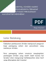 Faktor Fundamental, Kondisi Makro Ekonomi Dan