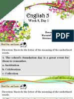 English Week 8 Q1, D1-2