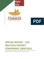 Leo Multiple District 306 - Leo Multiple Conference - Final Report