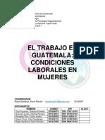 Condiciones Laborales de Las Mujeres en Guatemala