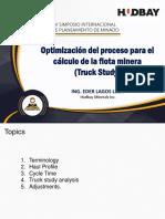 Optimización del proceso para el cálculo de la flota minera - Eder Lagos (IV Siplamin)