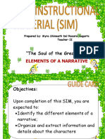 Elements of a Narrative SIM