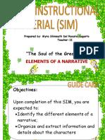 Elements of a Narrative SIM