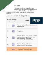 Codificación de La CIE X