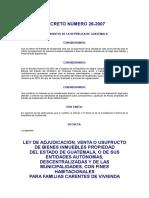 Ley de Adjudicacion, Venta, Renta Usufructo de Bienes