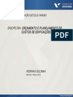 Planejamento e Controle FGV