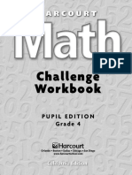 Maths Challenge Workbook, Grade 4 (PE)1
