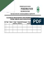 Pola Ketenagaan, Pemetaan Kompetensi, Rencana Pengembangan Kompetensi Kepala Puskesmas, Penanggung Jawab Program Dan Pelaksana Kegiatan
