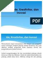 06 - KU 3062 - Definisi Ide, Kreativitas, Dan Inovasi Beserta Tipe Dan Jenisnya
