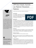 LPTT Data Analysis Improved Low Pavement Temperature Prediction