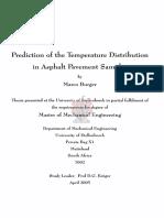 Prediction of the Temperature Distribution in Asphalt Pavement Samples Burger_prediction_2005