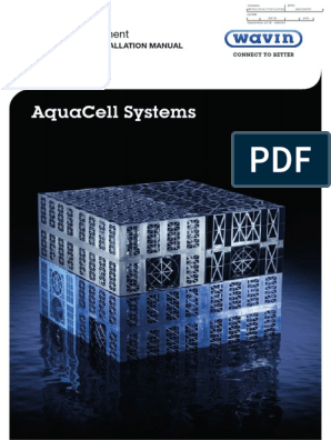 AquaCell Product Installation Manual | Flood | Stormwater