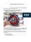Testing and Commissioning Procedure for Electric Motors
