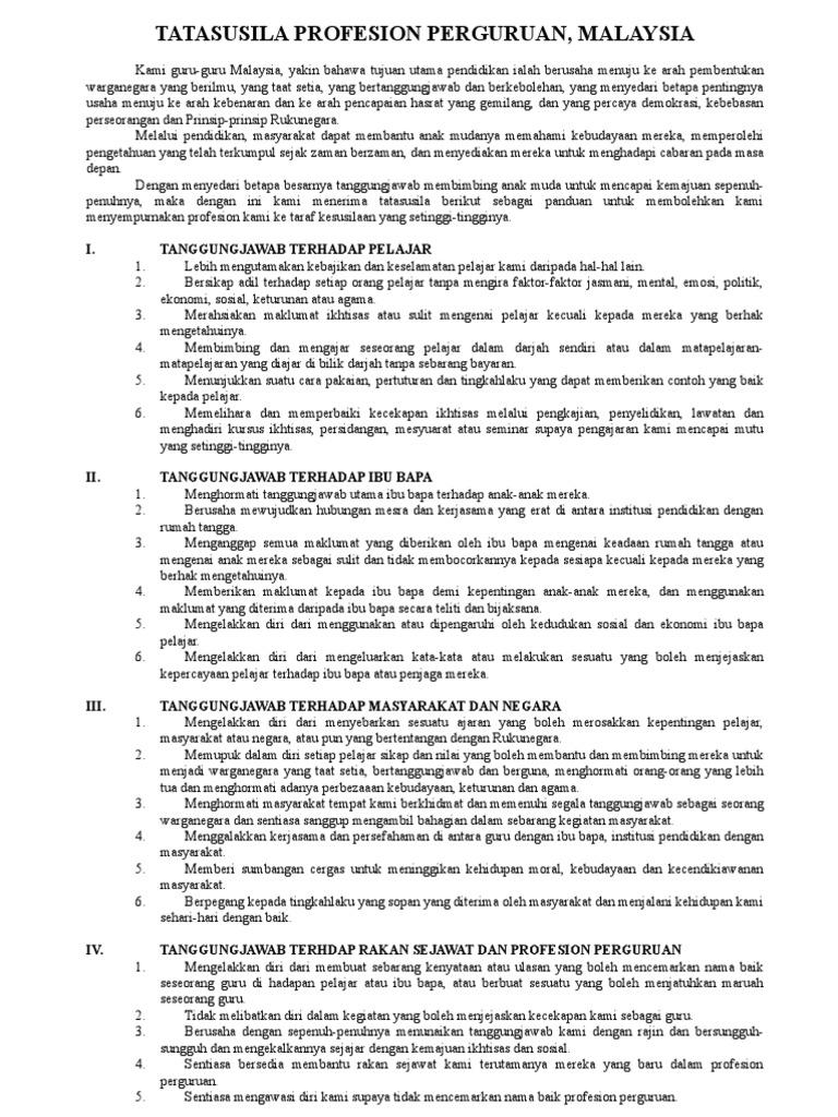 07 Tatasusila Proesion Perguruan Malaysia Doc