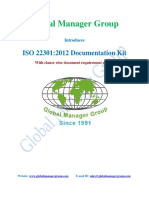List of Requirements Wise ISO 22301 Certification Documents
