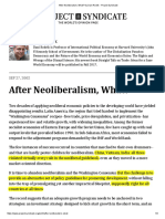 After Neoliberalism, What_ by Dani Rodrik - Project Syndicate