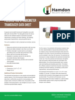 Polished Rod Dynamometer Transducer Data Sheet