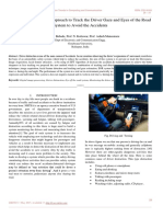 A Review Paper on an Approach to Track the Driver Gaze and Eyes of the Road System to Avoid the Accidents
