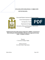 Tes. A. Doc. Implementacion del modelo integral colaborativo (MDSIC) como fuente de innovacion para el desarrollo agil de software en las empresas de [...]. Jose L Cendejas (UPAPEP). 2014.pdf