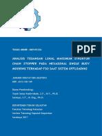 Analisis Tegangan Lokal Maksimum Struktur `Chain Stopper` pada `Hexagonal Single Buoy Mooring` terhadap FSO saat `Sistem Offloading`