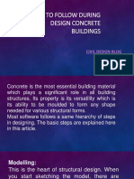 STEPS TO FOLLOW DURING DESIGN CONCRETE BUILDINGS​ ​