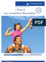 SUNDARAM BNP PARIBAS MUTUAL FUND APPLICATION FORM