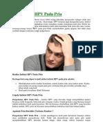 Pengobatan HPV Pada Pria