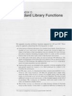 Appendix D - Standard Library Functions