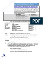 Bizmanualz Construction Management Policies and Procedures Sample