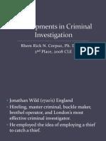 Developments in Criminal Investigation