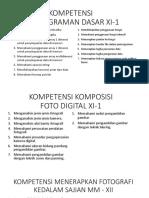 Kompetensi Pemrograman Dasar & Kfd Xi-1