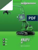 Sennebogen 821 R Tracked Material Handler Spec Sheet
