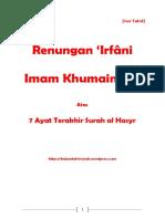 Renungan 'Irfani 7 Ayat Erakhir Surat Al Hasyr