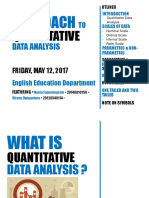 Approaches to Quantitative Data Analysis